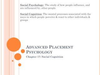 Advanced Placement Psychology