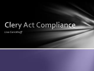 Clery Act Compliance