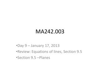 MA242.003