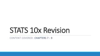 STATS 10x Revision