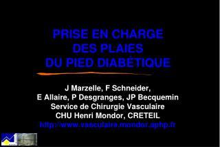 PRISE EN CHARGE DES PLAIES DU PIED DIABÉTIQUE