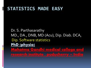 Statistics made easy
