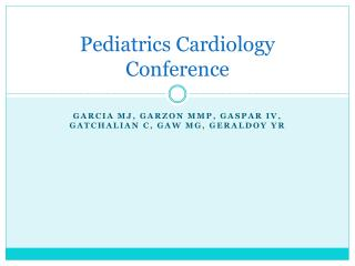 Pediatrics Cardiology Conference