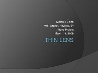 Thin Lens