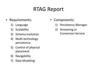 RTAG Report