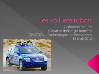 Les voitures robots