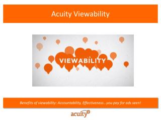 Acuity  Viewability