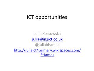 ICT opportunities