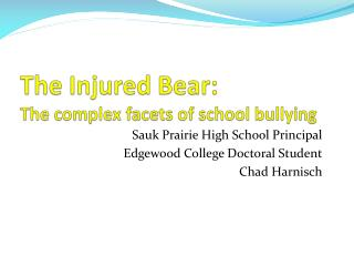 The Injured Bear:  The complex facets of school bullying