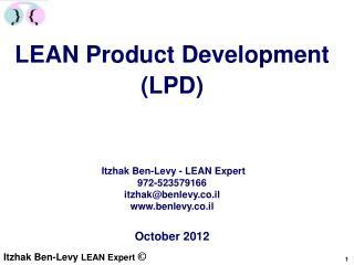 LEAN Product Development (LPD)