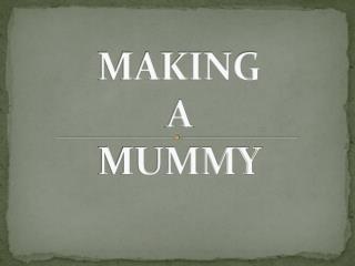 MAKING  A  MUMMY