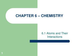 CHAPTER  6  – CHEMISTRY