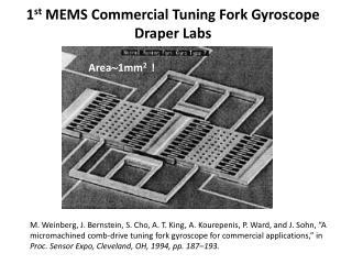 1 st  MEMS Commercial Tuning Fork Gyroscope Draper Labs