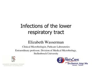 Infections of the lower respiratory tract
