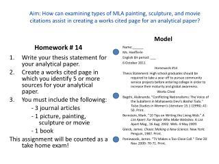 Homework # 14