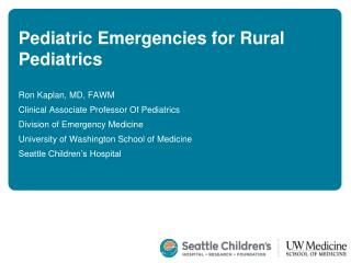 Pediatric Emergencies for Rural Pediatrics