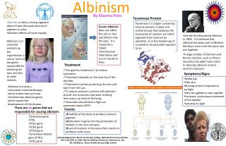 Albinism  is when a living organism doesn't have the usual amount of pigment or color.