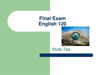 Final Exam English 120