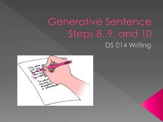 Generative Sentence Steps 8, 9, and 10