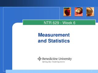 Measurement and Statistics