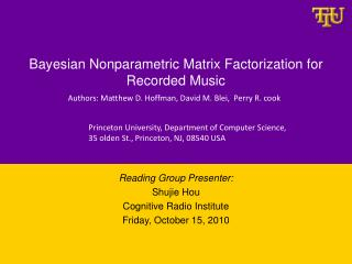 Bayesian Nonparametric Matrix Factorization for Recorded Music