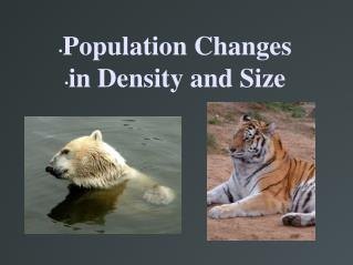 Population Changes in Density and Size
