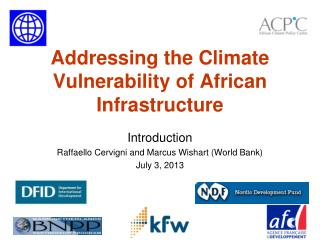 Addressing the Climate Vulnerability of African Infrastructure