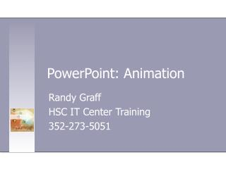 PowerPoint 2003Animation
