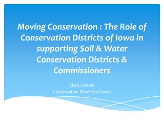 Clare  Lindahl Conservation Districts of Iowa
