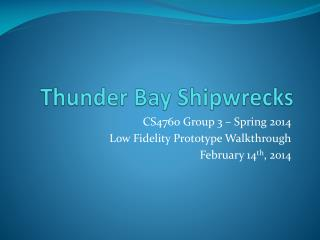 Thunder Bay Shipwrecks