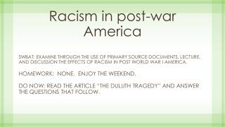 Racism in post-war America
