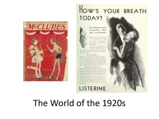 The World of the 1920s