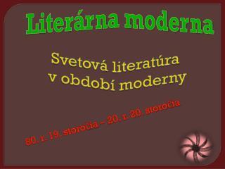 Literárna moderna