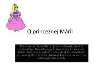 O princeznej M á rii