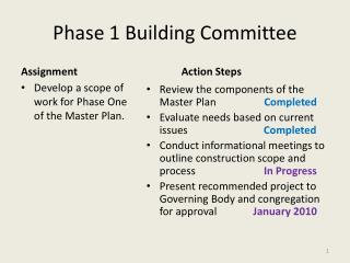 Phase 1 Building Committee