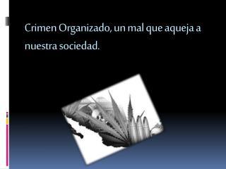 Crimen Organizado, un mal que aqueja a nuestra sociedad.