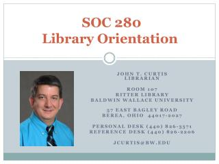 SOC 280 Library Orientation