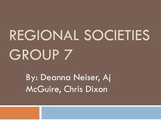 Regional Societies Group 7