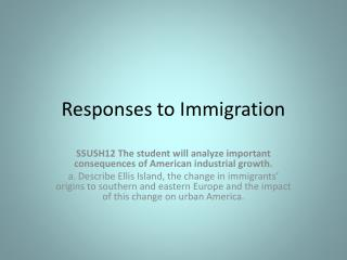 Responses to  Immigration