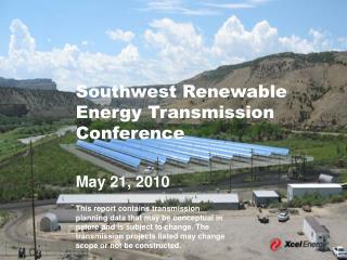 Southwest Renewable Energy Transmission Conference