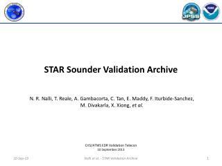 STAR  Sounder Validation Archive