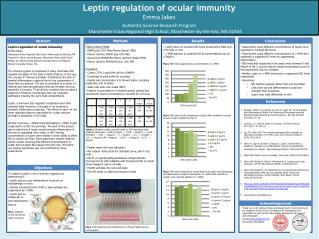 Leptin  regulation of ocular immunity