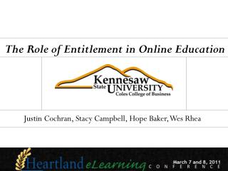The Role of Entitlement in Online Education