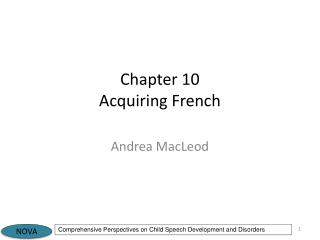 Chapter 10 Acquiring French