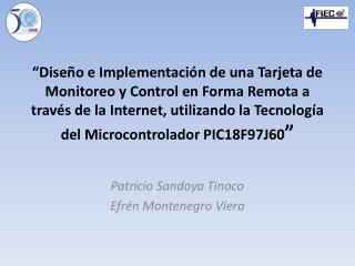 Patricio  Sandoya  Tinoco Efr�n Montenegro Viera