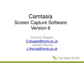 Camtasia Screen Capture Software Version 6
