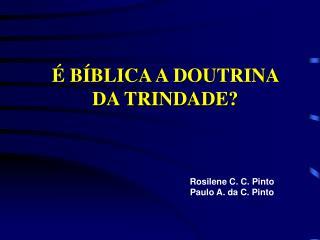 B BLICA A DOUTRINA  DA TRINDADE