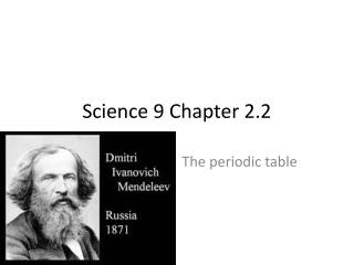 Science 9 Chapter 2.2