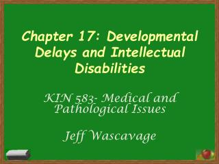 Chapter 17: Developmental Delays and Intellectual Disabilities