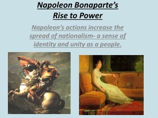 Napoleon Bonaparte's  Rise  to Power